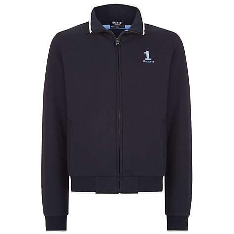 Buy Hackett London No.1 Zip-Up Jersey Sweat Top Online at johnlewis.com