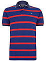 Hackett London Striped Cotton Polo Shirt, Blue/Red