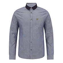 Buy Lyle & Scott Chambray Cotton Shirt, Dark Chambray Online at johnlewis.com