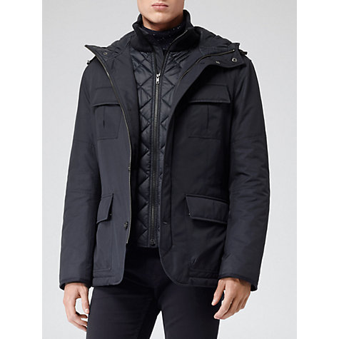 Buy Reiss Warwick Quilted Jacket, Navy Online at johnlewis.com