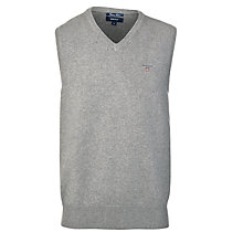 Buy Gant Solid Cotton Sleeveless Jumper, Grey Online at johnlewis.com