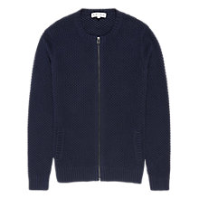 Buy Reiss Tommy Full Zip Cotton Cardigan, Navy Online at johnlewis.com