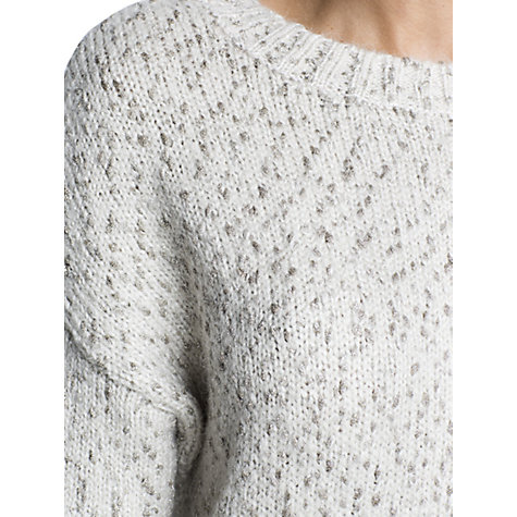 Buy Mango Metallic Details Mohair Jumper, Light Pastel Pink Online at johnlewis.com