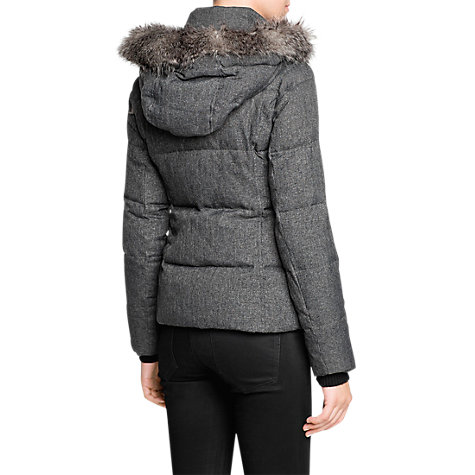 Buy Mango Short Coat, Grey Online at johnlewis.com