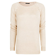 Buy Mango Pearly Openwork Jumper, Light Beige Online at johnlewis.com