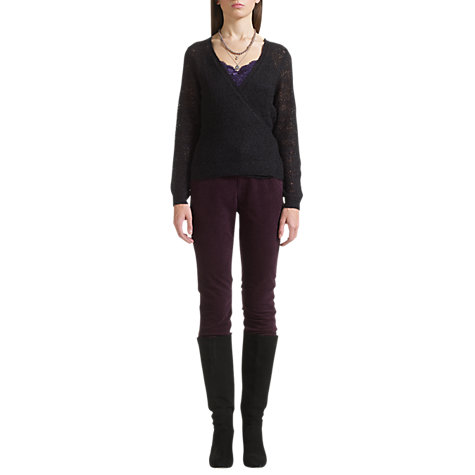 Buy Jigsaw Cobweb Ballet Wrap Cardigan, Black Online at johnlewis.com