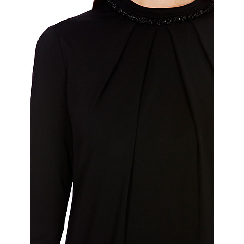 Buy Coast Noelle Jersey Dress, Black Online at johnlewis.com