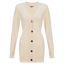 Buy Jigsaw Boyfriend Cardigan, Light Stone Online at johnlewis.com