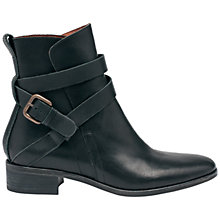 Buy See by Chloé Cross-Over Strap Ankle Boots, Black Online at johnlewis.com