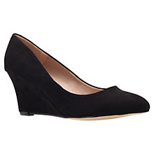 Buy Carvela Krissy Wedged Court Shoes, Black Online at johnlewis.com