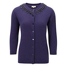 Buy Viyella Beaded Cardigan, Sapphire Online at johnlewis.com