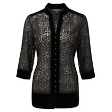 Buy Viyella Embroidered Tunic, Black Online at johnlewis.com
