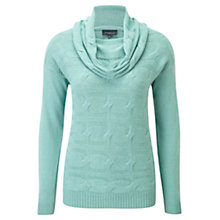 Buy Viyella Cable Knit Jumper, Seafoam Online at johnlewis.com