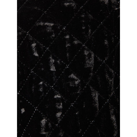 Buy Viyella Quilted Velvet Jacket, Black Online at johnlewis.com