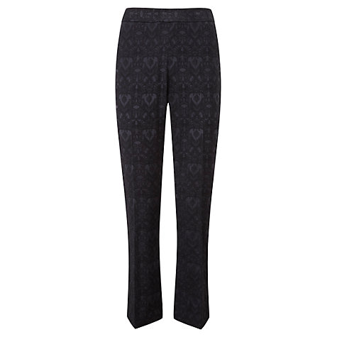 Buy Viyella Jacquard Trousers, Black/Sapphire Online at johnlewis.com