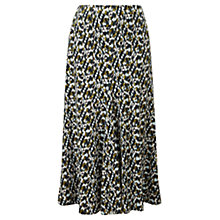 Buy Viyella Brushstroke Jersey Skirt, Cedar Online at johnlewis.com