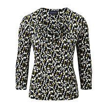 Buy Viyella Brushstroke Jersey Top, Cedar Online at johnlewis.com