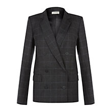 Buy Hobbs Josephine Jacket, Charcoal Multi Online at johnlewis.com