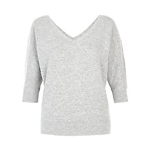 Buy Hobbs Sofia Jumper, Grey Melange Online at johnlewis.com