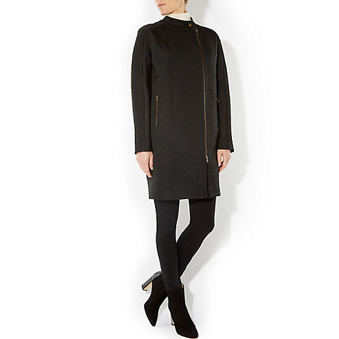 Buy Hobbs Gwen Coat, Black Online at johnlewis.com