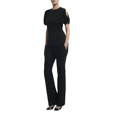Buy Havren Draped Sleeve Top, Black Online at johnlewis.com