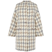Buy Jaeger Giant Houndstooth Coat, Light Multi Online at johnlewis.com