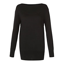 Buy Hobbs Letty Jumper, Black Online at johnlewis.com