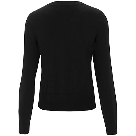 Buy Havren Beaded Front Cardigan, Black Online at johnlewis.com