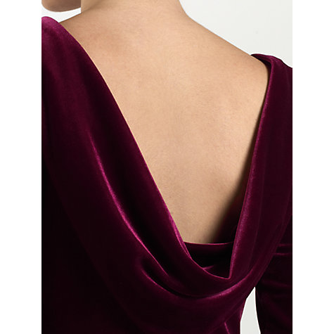 Buy Ariella Rafaella Velvet Dress, Red Online at johnlewis.com