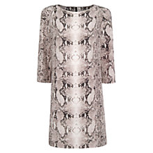 Buy Mango Snakeskin Print Satin Dress, Natural White Online at johnlewis.com