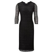 Buy Viyella Crochet Jersey Dress, Black Online at johnlewis.com