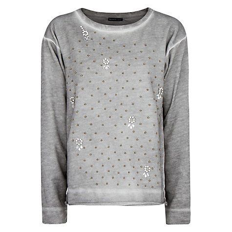 Buy Mango Studded Sweatshirt, Medium Grey Online at johnlewis.com
