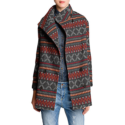 Buy Mango Ethnic Coat, Grey Online at johnlewis.com