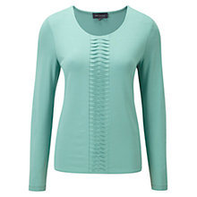 Buy Viyella Pleated Jersey Top, Seafoam Online at johnlewis.com