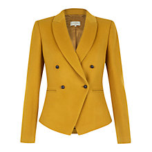 Buy Hobbs Phillipa Jacket, Mustard Online at johnlewis.com