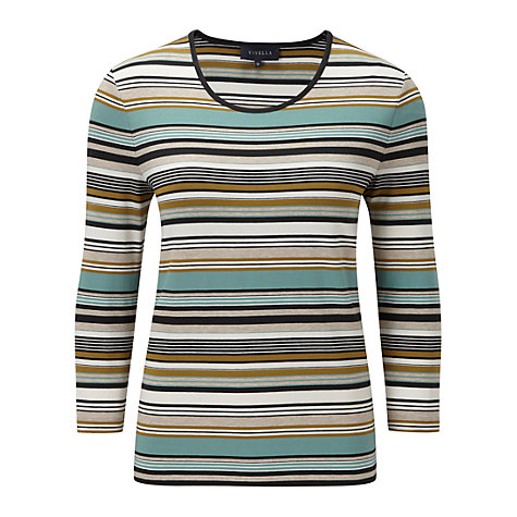 Buy Viyella Stripe Jersey Top, Seafoam Online at johnlewis.com