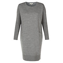 Buy Hobbs Lotte Knitted Dress, Grey Melange Online at johnlewis.com