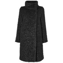 Buy Jaeger Funnel Neck Curly Coat, Black Online at johnlewis.com
