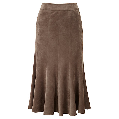 Buy Viyella Panelled Corduroy Skirt, Brown Online at johnlewis.com
