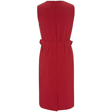 Buy Havren Ruffle Front Shift Dress, Deep Red Online at johnlewis.com