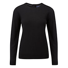 Buy Viyella Ella Back Button Jumper, Black Online at johnlewis.com