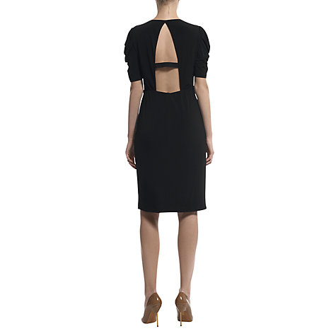 Buy Havren Backless Drape Dress, Black Online at johnlewis.com