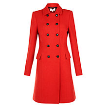 Buy Hobbs Maisie Coat, Fire Red Online at johnlewis.com