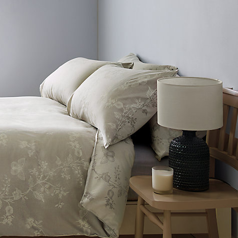 Buy John Lewis Croft Collection Joanie Butterfly Jacquard Bedding, Natural Online at johnlewis.com