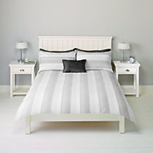 Buy John Lewis Archie Stripe Bedding, Grey Online at johnlewis.com