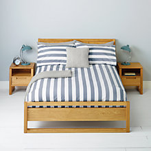 Buy John Lewis Bob Stripe Duvet Covers and Pillowcases, Steel Online at johnlewis.com