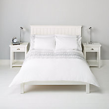 Buy John Lewis Catriona Floral Embroidered Bedding, Silver Online at johnlewis.com