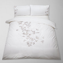Buy John Lewis Connie Cross Stitch Bedding, Natural Online at johnlewis.com