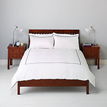 Buy John Lewis Emerson Ribbon Border Bedding, White Online at johnlewis.com