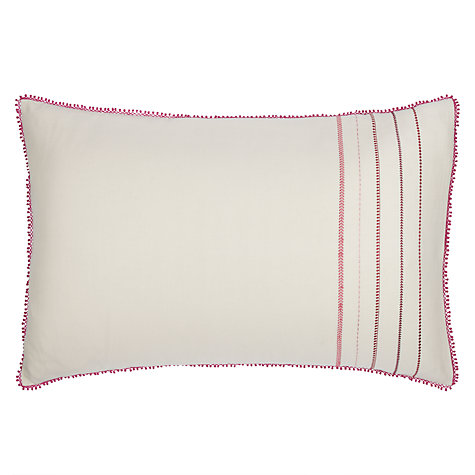 Buy John Lewis Estra Braid Embroidered Bedding, Pink Online at johnlewis.com